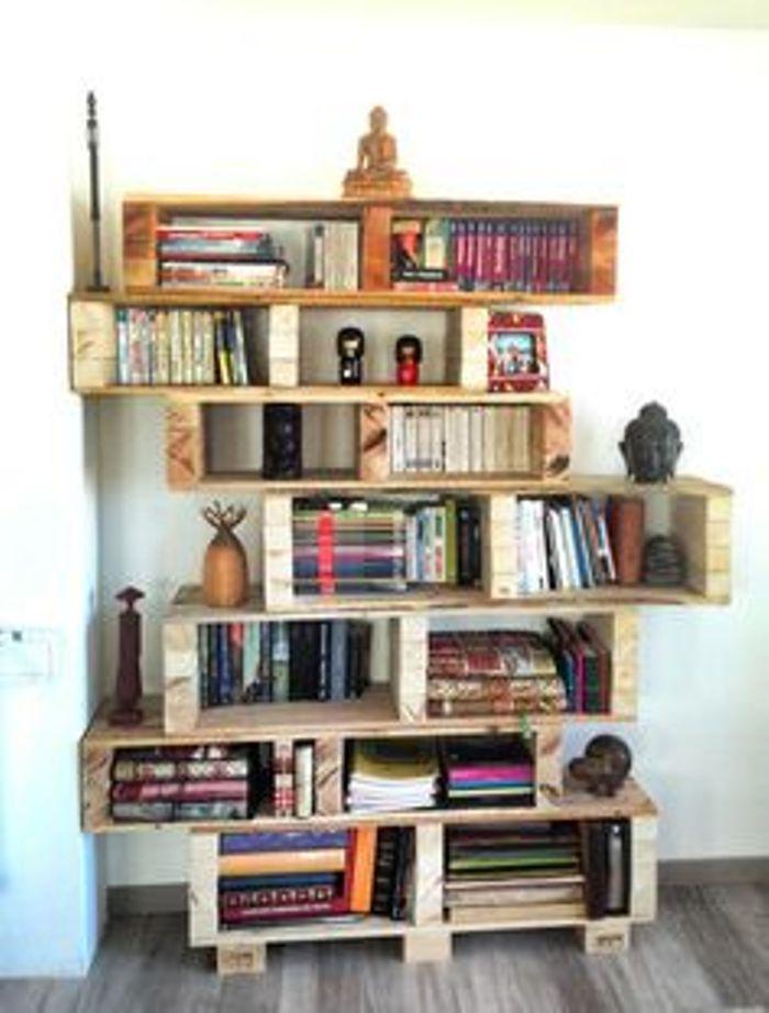 Recicla un palet: estantería     Decoración con Madera