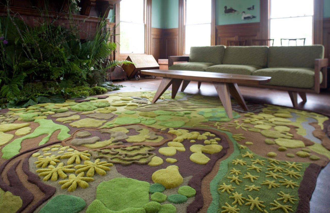 Alfombra sal n decoraci n con madera - Decoracion alfombras salon ...