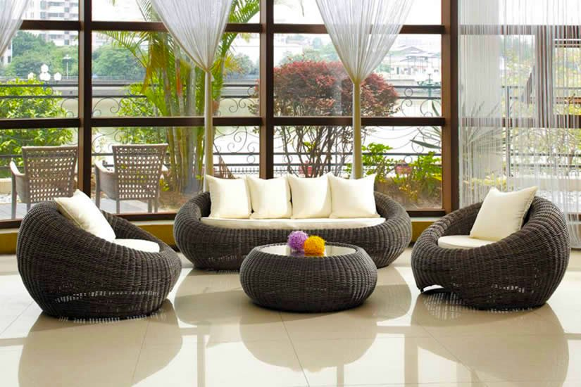 Decoraci n de interiores con rattan decoraci n con madera for Muebles de exterior de rattan