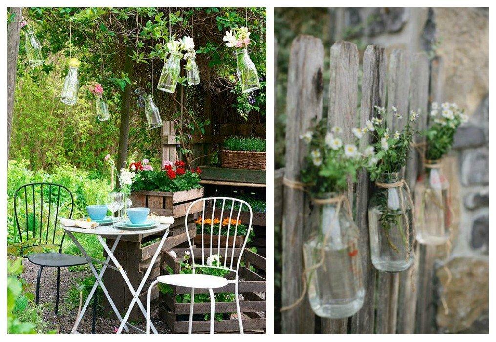 Decora tu jard n con reciclaje de madera decoraci n for Decoracion jardin madera
