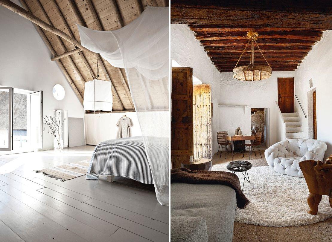 La madera en la decoraci n mediterr nea decoraci n con - Vigas de decoracion ...