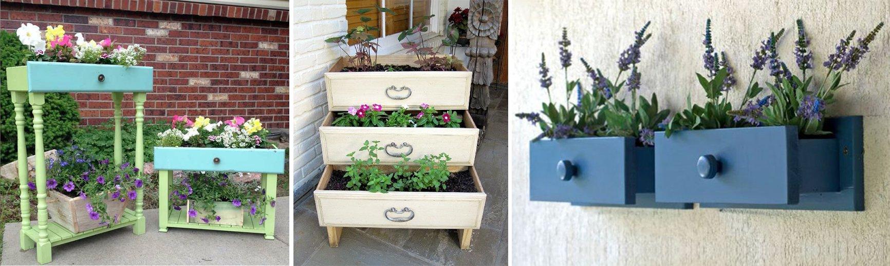 Maceteros de madera originales stunning madera para - Macetas originales para plantas ...