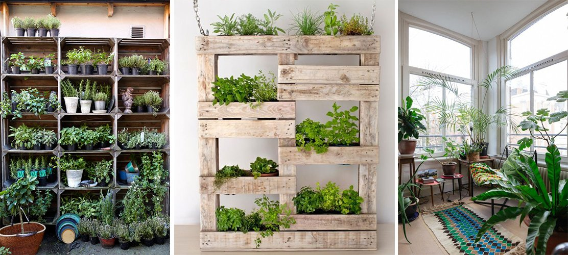 5 ideas para una decoraci n sostenible decoraci n con for Estanteria jardin plantas